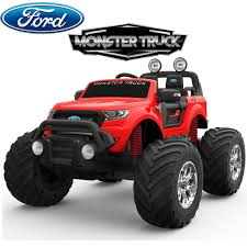 100 Kids Monster Trucks 24V Ford Truck Kids Electric Ride On Car Red Ride On Car 4 Wheel Drive And Rubber Tyres
