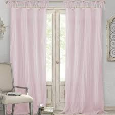 Pink Ruffle Blackout Curtains by Pink Curtains And Drapes You U0027ll Love Wayfair