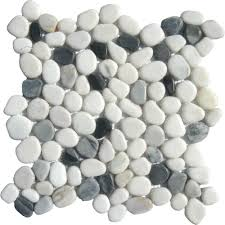 Home Depot Marble Tile Sealer by Ms International Black White Pebbles 12 In X 12 In X 10 Mm
