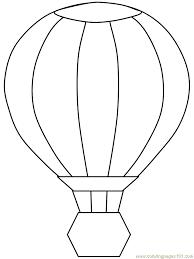 Free Printable Hot Air Balloon Coloring Page Great