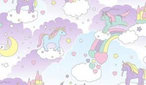 Unicorns Wallpaper Entitled Pink Fluffy Dancing On Rainbows
