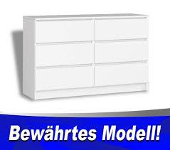 kommode mit 6 schubladen weiß kommode für büro schlafzimmer geprüftes produkt