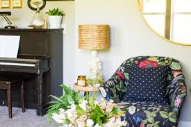 House Of Troy Antique Brass Piano Lamp by One Room Challenge Week 6 Living Room Reveal Lulu The Baker