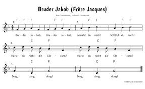 bruder jakob frère jacques text noten zum mitsingen