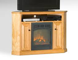 Living Room With Fireplace In Corner by Varnished White Oak Wood Corner Tv Stand With Skinny Doors Of