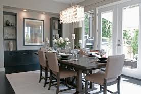 Admirable Contemporary Dining Room With Candle Holders Decoration On Table Furnished