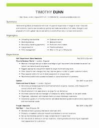 Food Cashier Resume Lovely For Restaurant New Sample Unique Examples Of Retail