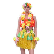 Amazoncom Amosfun 6 Pcs Hawaiian Costume Set With Hula
