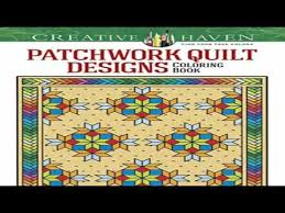 Creative Haven Patchwork Quilt Designs Coloring Book Books