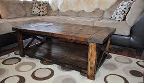 How To Build Wooden End Table by How To Build And Distress Farmhouse Style Coffee Table