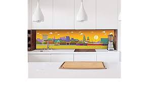 kolekcje aufkleber küchenrückwand hamburg skyline küche