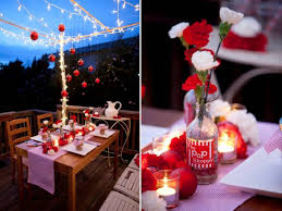 Holiday Wedding Tablescape With Red And White Carnations