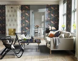 schöne tapeten fürs wohnzimmer scandi bis eklektisch
