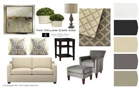 the yellow cape cod clean and calm gray and living room