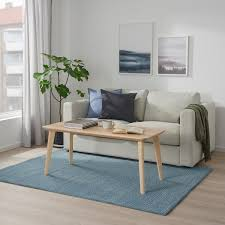 langsted teppich kurzflor hellblau 133x195 cm