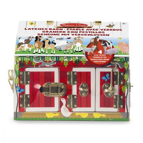 Melissa & Doug Wooden Latches Barn