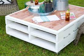 Diy Outdoor Pallet Coffee Table Makeover Homeright DMA Homes