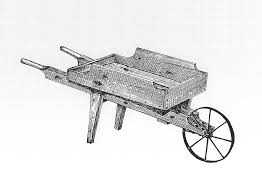 Wooden garden wheelbarrow by ByeGone Workshop