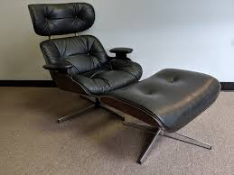 Mid Century Modern Eames Style Lounge Chair With Ottoman By Selig Selig Lounge Chair Re Caning Rocky Mountain Diner Home Select Modern Chair Extraordinary Eames And Ottoman Vitra Xl Lounge For Carlo Ghan Ca Swivel Migrant Resource Network Is My Vintage Real Olek Restoration Any Idea On The Maker Of This Replica Frank Doner Midcentury Modern Set Plycraft Style Refinished And Upholstered Vintage Fniture Sale
