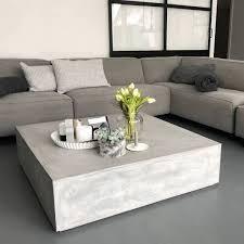 beton block couchtisch loungetisch betongrau lounge tisch