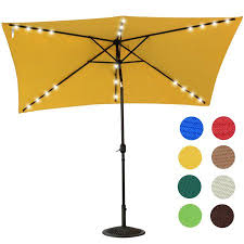 Walmart Patio Tilt Umbrellas by Sundale Outdoor Rectangular Solar Powered 24 Led Lighted Outdoor