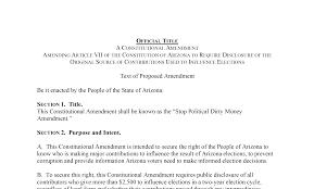 Revised Disclosure Constitutional Amendment VPA Arizona