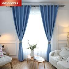 rideaux chambres à coucher plus épais simple solide couleurs tissu blackout rideaux pour la