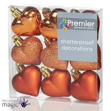 Ebay Christmas Tree Decorations by 40mm Multi Finish Hearts Christmas Tree Baubles Shatterproof