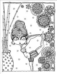 Big Yoga Coloring Book Page Colouring Adult Detailed Advanced Printable Zentangle Anti Stress Farbung