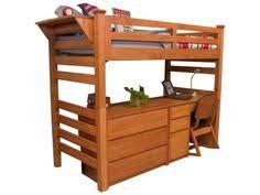 university loft graduate series twin xl open loft bed wild cherry