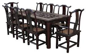 Asian Dining Room Table Awesome With Image Of Decor New At Ideas