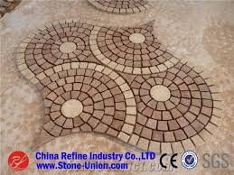 Red Granite Honed Paving Stone Mesh Shape Patio Walkway Driving Terrace Pavers Floor