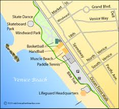 Venice Beach Map Los Angeles County CA
