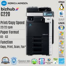 Photostat Machine Konica Minolta Bizhub C220 Color A3 Multifunction COPY PRINT SCAN Printer Copier