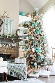 Christmas Tree Turquoise Winter Wonderland Idea