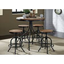 Metal Kitchen Table Vintage Distressed Metal 5 Piece Round ... 54 Pub Sets Tall Bar Tables And Chairs High Top Table Mix Match 9 Piece Counter Height Ding Set By Coaster At Dunk Bright Fniture 5 Details About 4 Wood Kitchen Dinette Room Breakfast Basil Luckyermore Rustic Wooden And For Small Spaces Camelia Espresso Stool Crown Mark Del Sol Black 5pc Sunny Designs Metro Flex Delightful Style Walmart Stools
