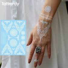 White Henna Tattoo Hand Patch Temporary Tattoos Snatched Up Store