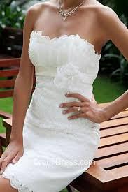 Strapless Slim Short Rustic Wedding Dress