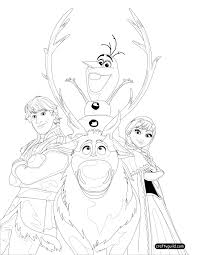 Coloring Page Frozen Animation Movies 93