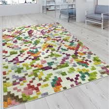 teppich wohnzimmer handgewebt karo muster