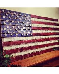 This Wooden American Flag Measures 37 Wide By 18 Tall Makes A