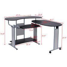 Mainstays Corner Computer Desk Instructions by Costway Expandable L Shaped Computer Desk Pc Table Corner