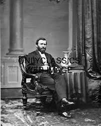 1869 President Ulysses S Grant At White House General Civil War Hero Grand Photo