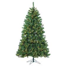 STERLING 7 Ft Pre Lit LED Montana Pine Artificial Christmas Tree With Warm White