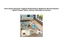paco home designer teppich wohnzimmer modernes blumen muster