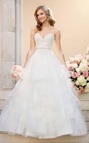 a line wedding dress with lace bodice stella york
