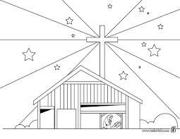 Bethlehem Christmas Stars Coloring Page