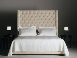 Roma Tufted Wingback Headboard by Enchanting Bedroom On White Tufted Headboard With Crystal Buttons