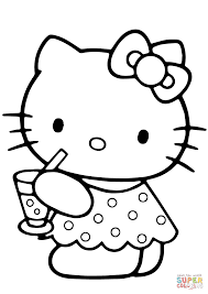 Click The Hello Kitty Summer Coloring Pages