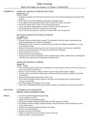 Associate Technical Writer Resume Sample Writing Examples